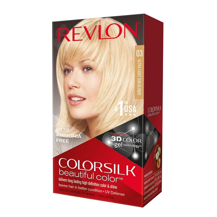 Revlon Colorsilk Beautiful Color Permanent Hair Dye 03 Ultra Light Sun Blonde