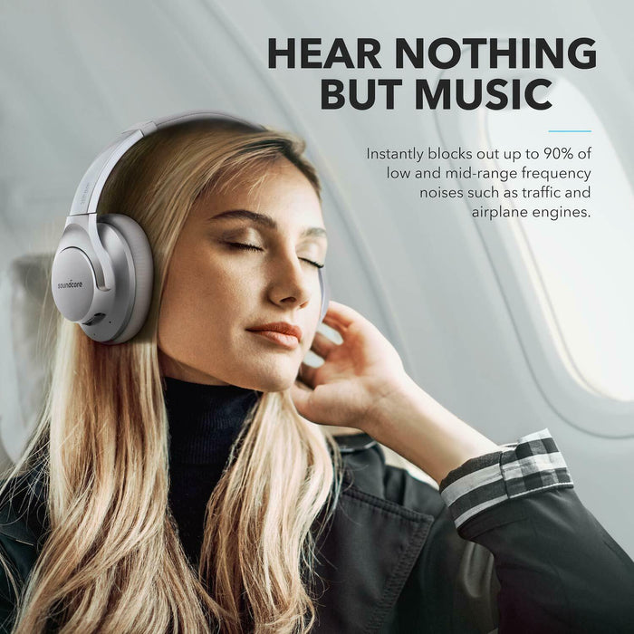 Anker Hybrid Active Noise Cancelling Over Ear Headphones Wireless Bluetooth
