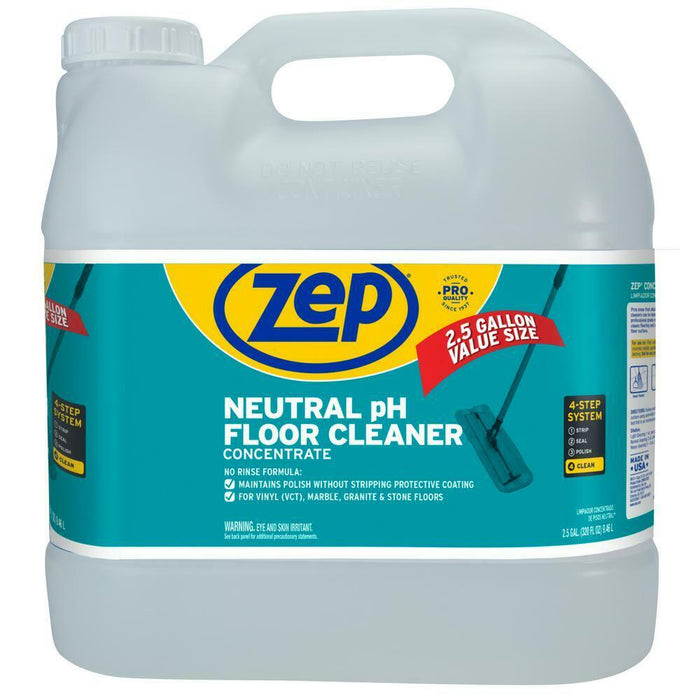 Zep Neutral pH Floor Cleaner Concentrate 2.5 Gallons (Case of 2)