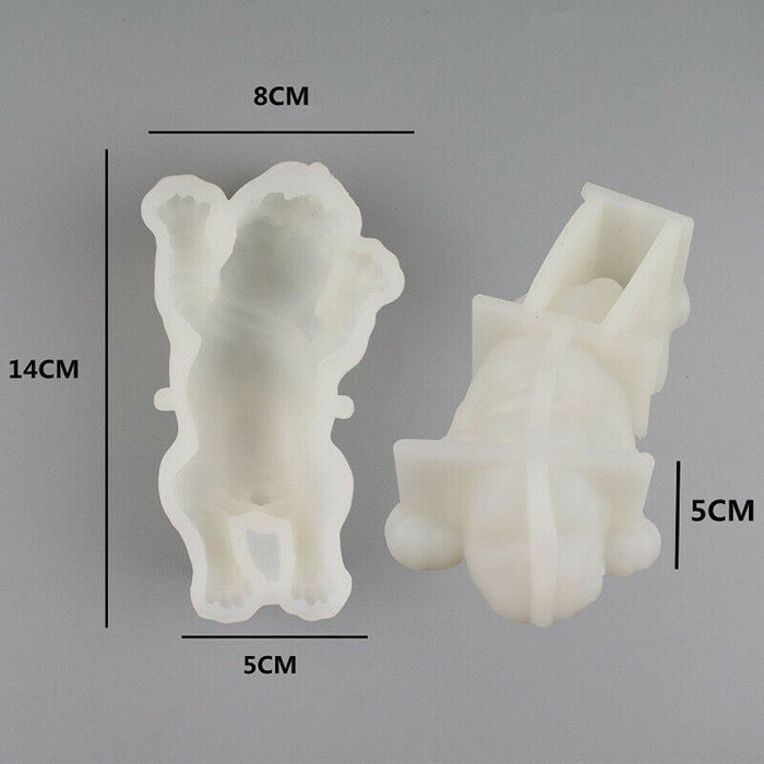 3D Dog Shape Silicone Mold Mousse Cake Chocolate Jelly Baking Craft DIY US