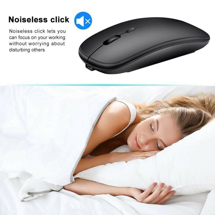 Mini Wireless Bluetooth Mouse 1600DPI Mice for Android Phone Tablet PC Laptop