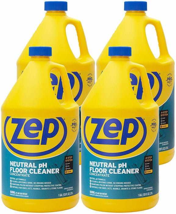 Zep Neutral pH Floor Cleaner Concentrate 128 Ounces (Case of 4)