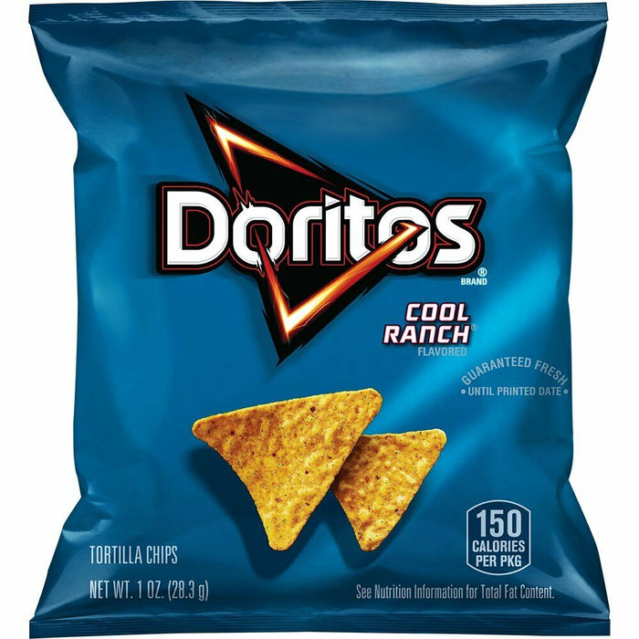 Doritos Cool Ranch Flavored Tortilla Chips, 1 Ounce (Pack of 40)