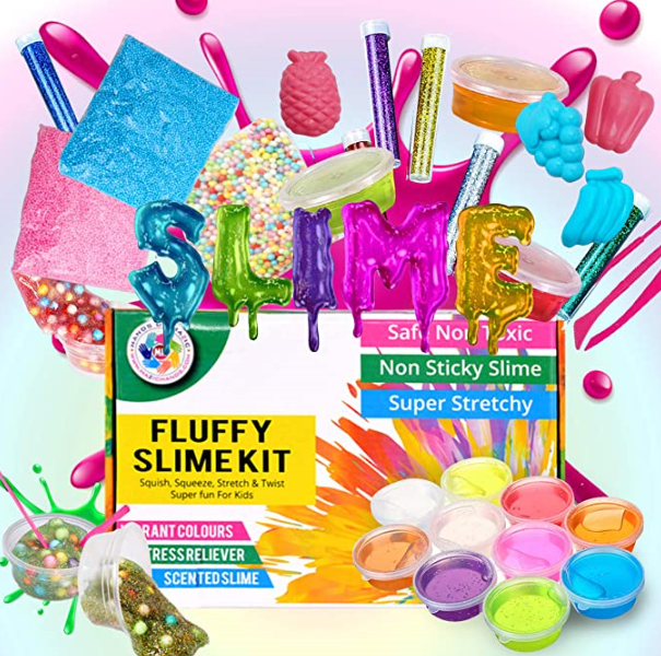 MazicHands Fluffy Slime Kit, Arts and Crafts for Girls & Boys - DIY Activities