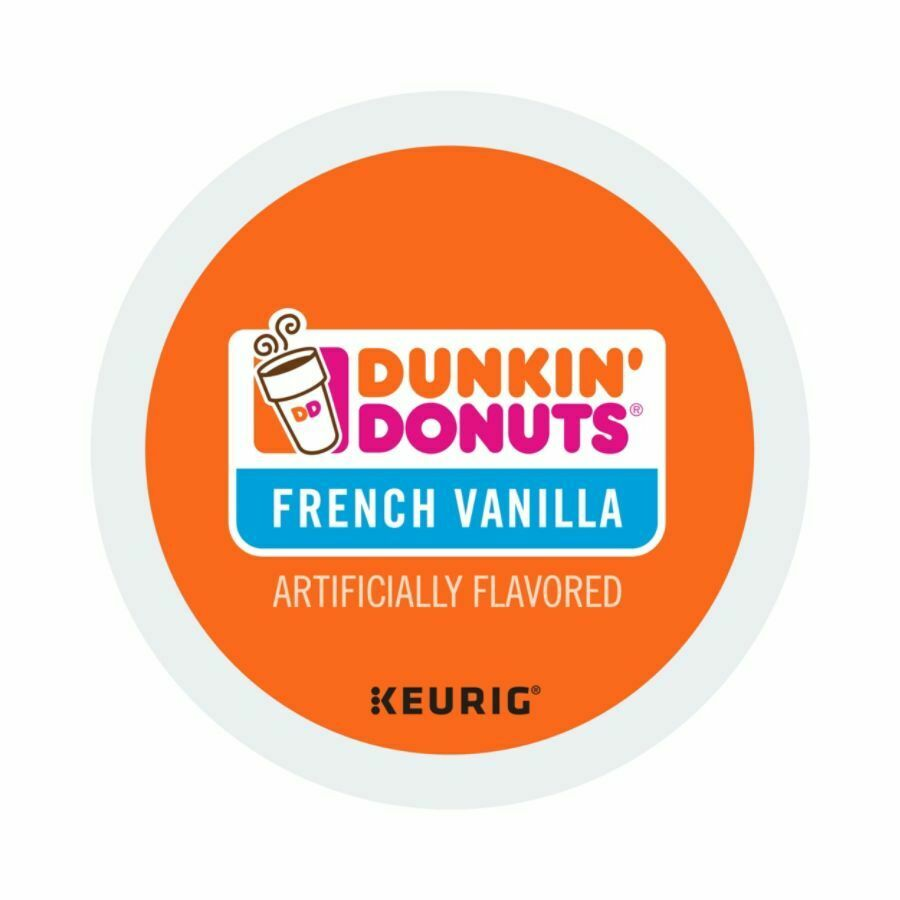 Dunkin' Donuts Coffee K-Cup Pods, French Vanilla, 0.4 Oz, Box Of 24 Pods