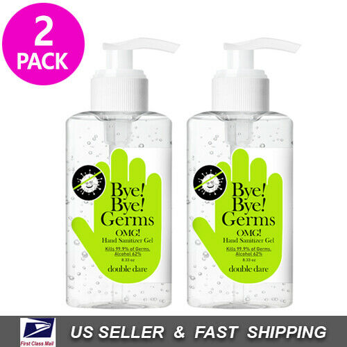 [ DOUBLE DARE ] Bye! Bye! Germs OMG! Hand Sanitizer Gel 250ml (8.33 oz) 2 PACK