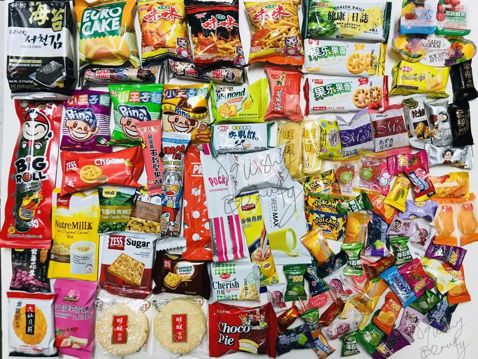 100 Piece Snack Box Asian Japanese Chinese Korean Variety Savory Treats Samples