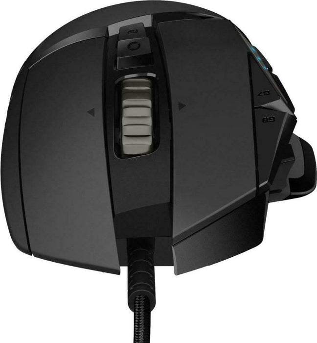 Logitech G502 HERO Wired Optical Gaming Mouse with RGB Lighting - Black