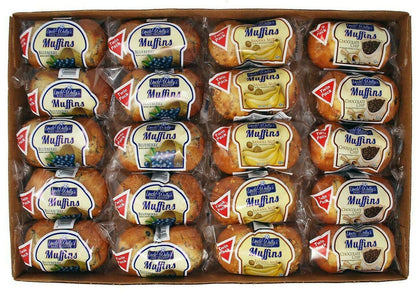 Uncle Wally's Muffins Variety Pack 20 Twin Packs 80 OZ