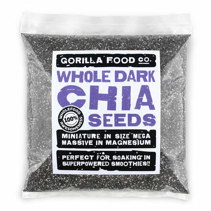 Gorilla Food Co. Chia Seeds Whole Raw Premium - 2Lb Pack (Fast, Free Ship!)