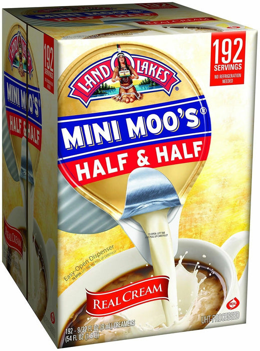Land O Lakes Mini Moos Creamer Half and Half Cups 192 Ct Refrigerated Coffee