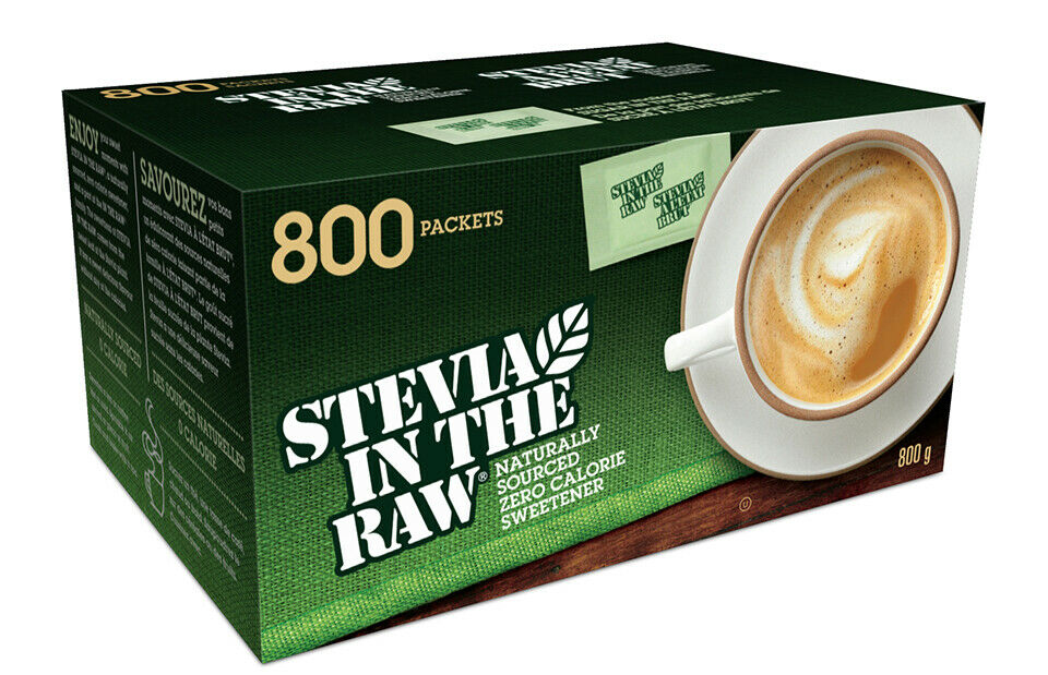 Stevia in the Raw Sweetener With Dextrose,1g Packet Pack of 800
