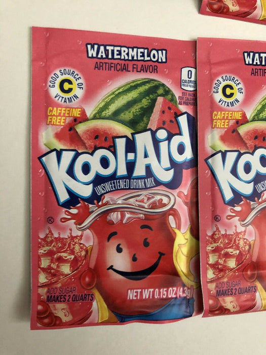 20 Packs of Kool Aid WATERMELON Flavor Drink Mix Packet NEW Gluten Free FREE SHP