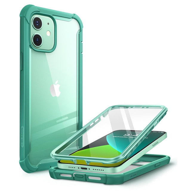 iPhone 12 Case/12 Pro Case 6.1 inch I BLASON Ares Full Body Rugged Clear Bumper Cover with Built in Screen Protector