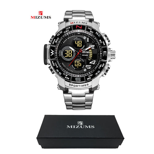 Mizums Brand Quartz Watch Men's Sport Watches Time piece Big Face