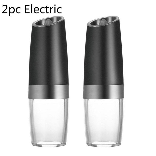 With LED Light Automatic Electric Pepper Grinder Gravity Sensor LootDash