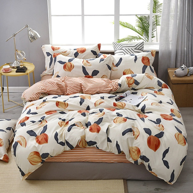 Lanke Cotton bed bedding,Twin Full King Queen Size bedding set,Duvet Cover Bed sheet Pillowcases,Brief Style bed sets LootDash