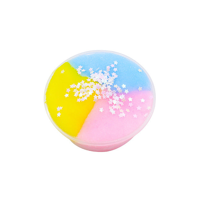 Colorful Cloud Slime Fluffy Polymer Anti Stress  Charms Cotton Mud Magic Crystal Clay Plasticine Supplies Kids Toys For Children LootDash