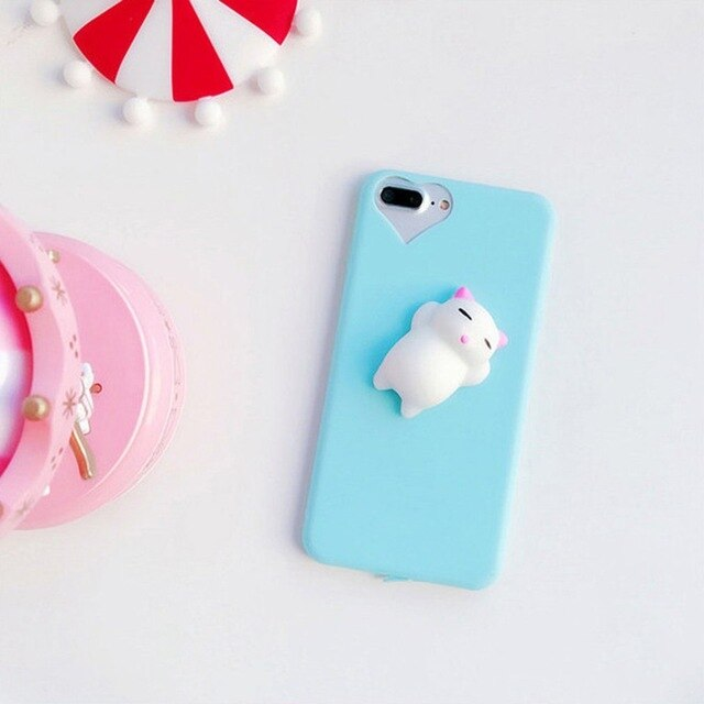 Three Dimensional Cat For iPhone Mobile Phone Shell Anti Pressure Pinch Soft Silicone Soft Shell Female Cute Phone Case on AliExpress