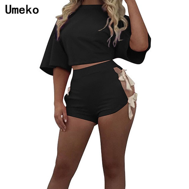 Umeko Summer Grey Robe Bodysuit Female Causual Backless Playsuit for Women Sexy High Waist Beachwear Solid Romper Modis Roupas