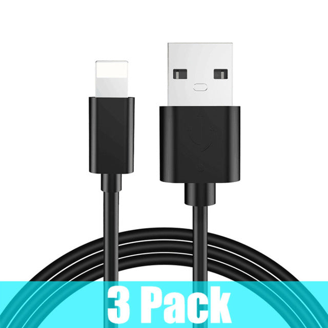 3 Pack mobile phone USB cables for iPhone  faster charger cable for IPhone charger LootDash