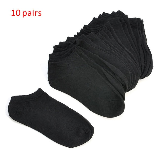 10 Pairs/5 Pairs Women Socks Autumn Winter Fashion Low Cut Black White Sports Sock Invisible Breathable Solid Color Ankle Socks|Socks