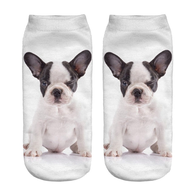 Unisex 3d Animal Print Ankle Socks 100% Cotton LootDash