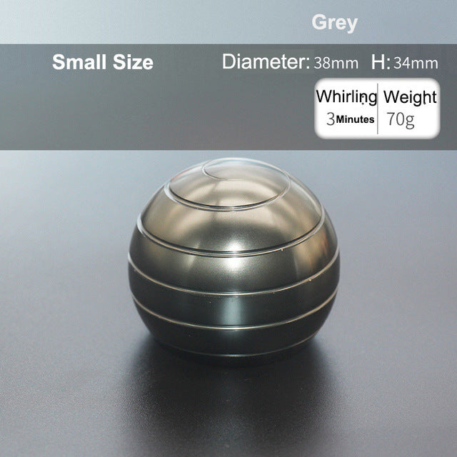 Ball Type Fingertip Gyro Metal Alloy Desk Toy Decompression Anxiety Stress Relief Sensory Toy