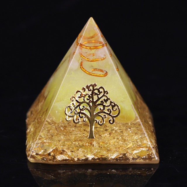 Orgonite Pyramid Tree Of Life Energy The Lucky Ceregat Pyramid Energy Converter To Gather Wealth And Prosperity Resin Decor|Jewelry Findings & Components|