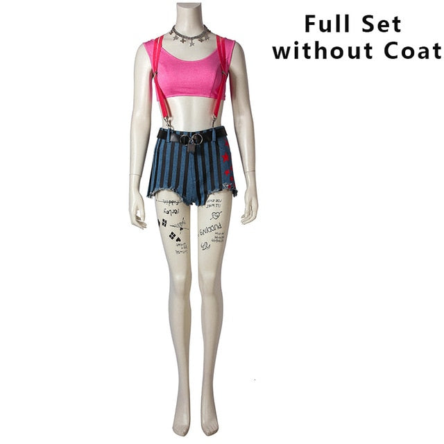 Birds Of Prey Cosplay Suicide Squad Batman Harley Quinn Costume Fancy Halloween Costumes For Adult Women Sexy Custom Coat