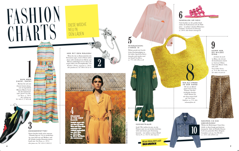 Lee Pfayfer dress in Grazia Germany  № 17 print edition