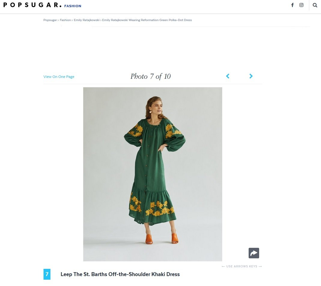 Lee Pfayfer dress is featured on Pop Sugar