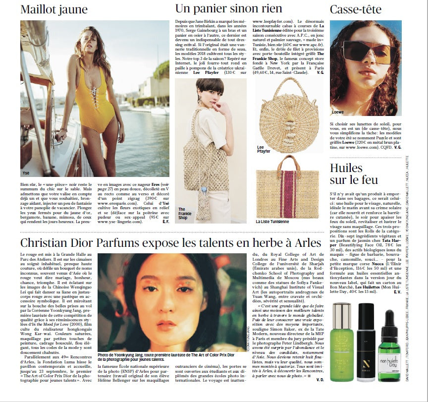 Lee Pfayfer Bag is featured in Le Figaro print edition 11/07/2018