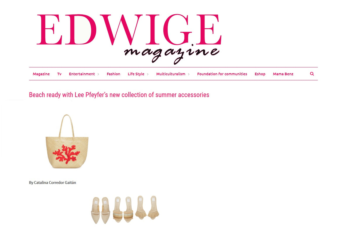Edwige Magazine about Lee Pfayfer accessories collection