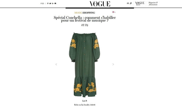 Lee Pfayfer dress is featured on Vogue FR