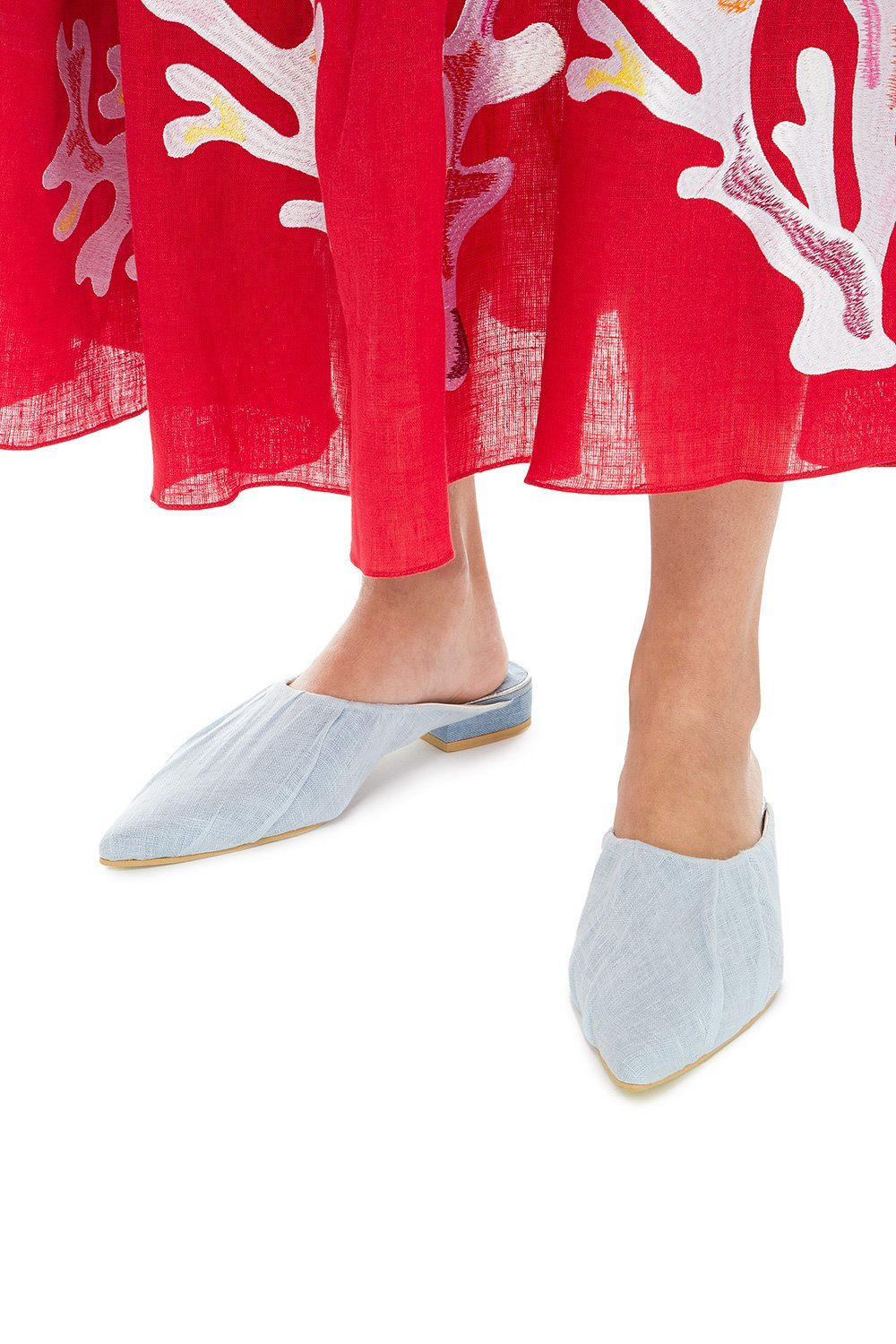 Canvas mules
