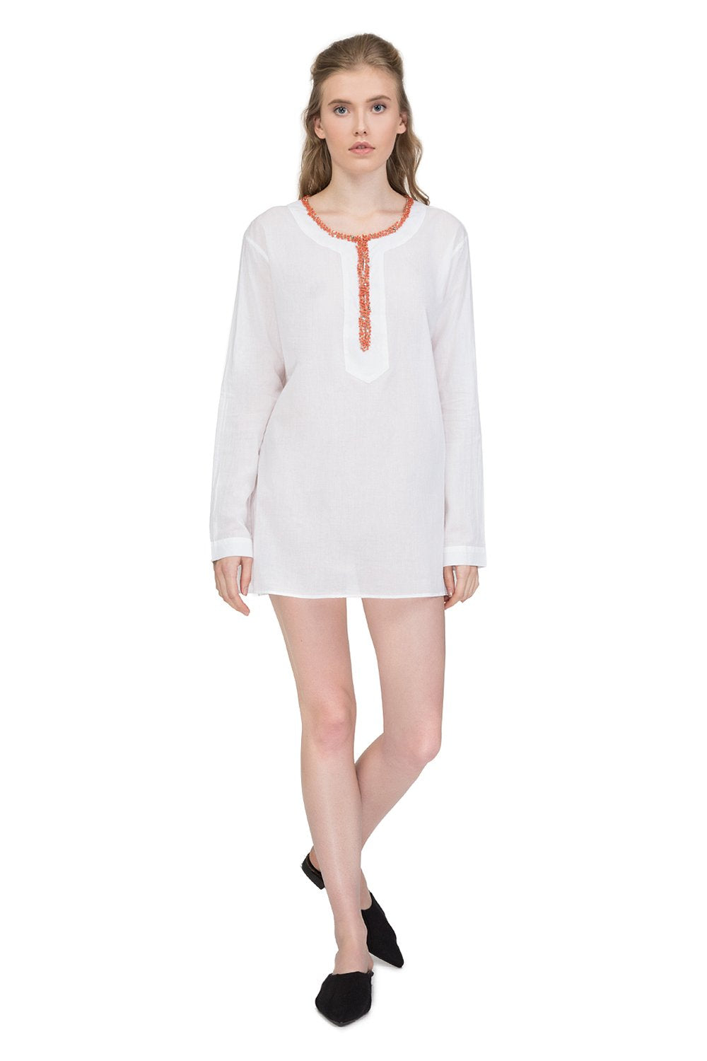Divine cotton tunic with long sleeves