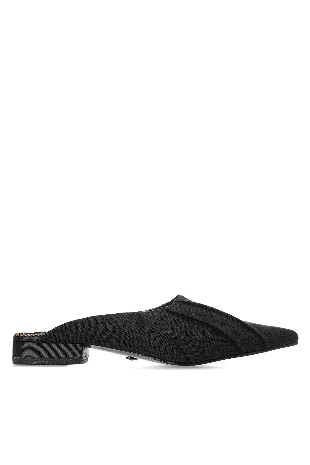 Black canvas mules