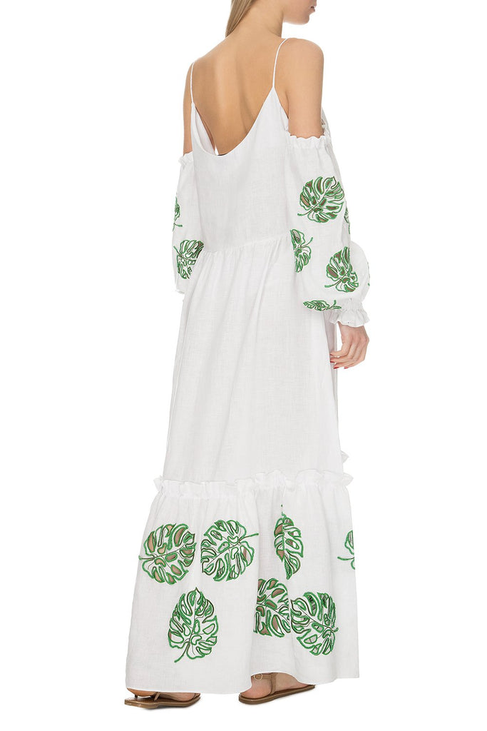 Bali White Dress with Beads