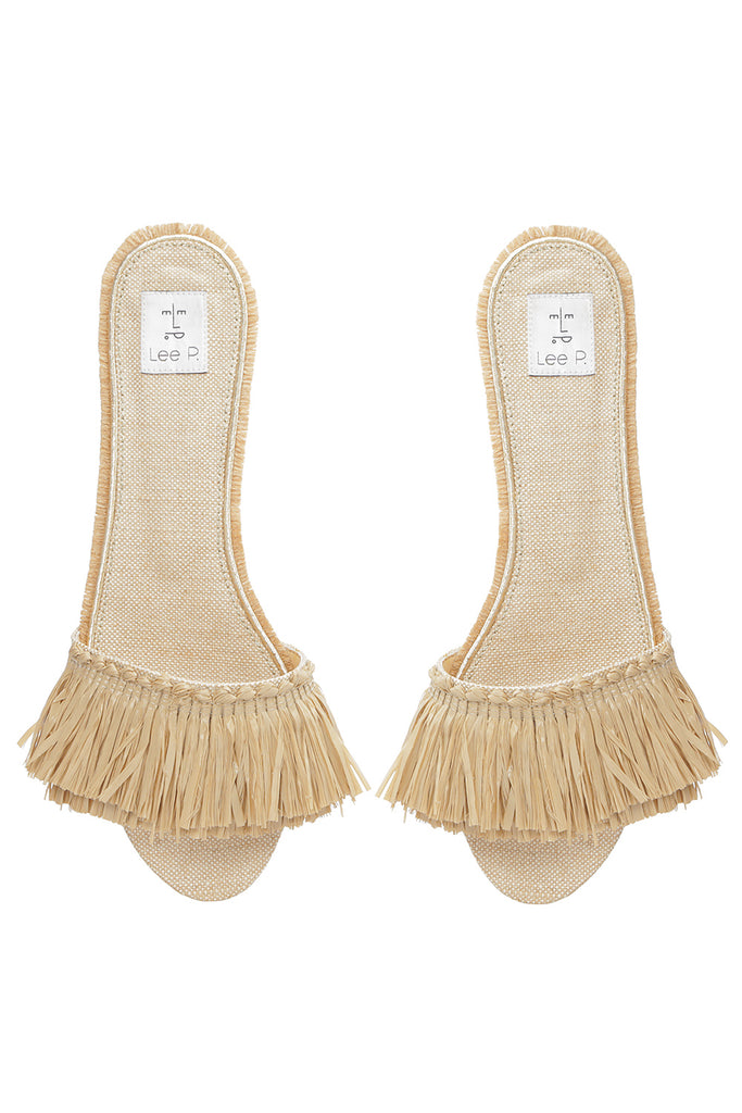 Canvas fringe sandals