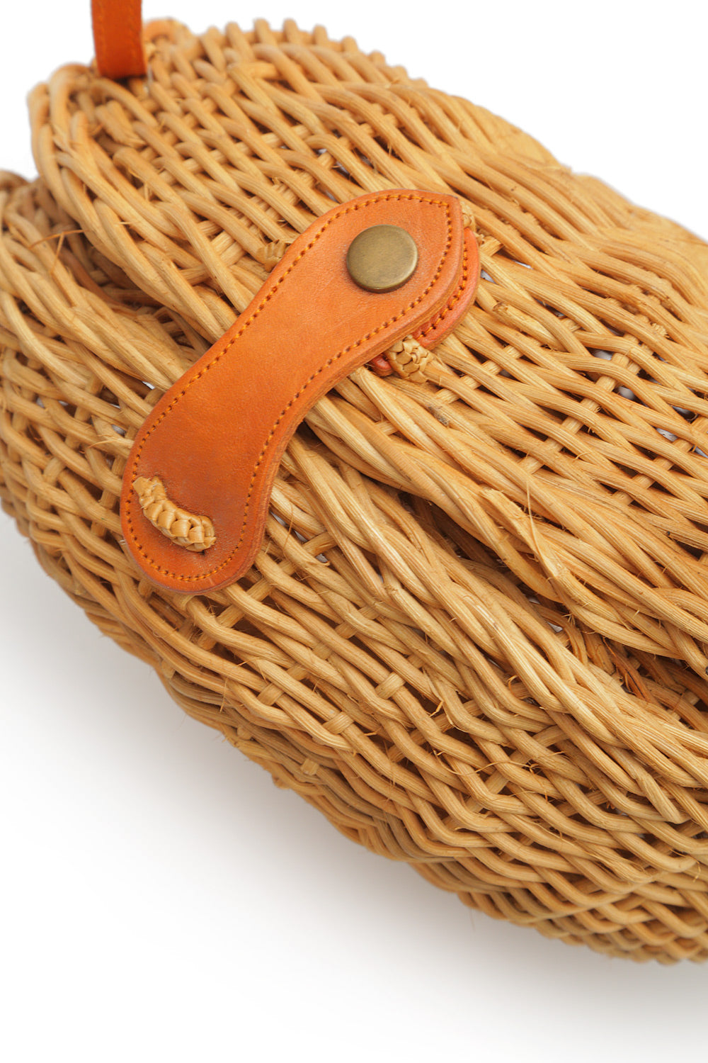 Wicker shoulder bag