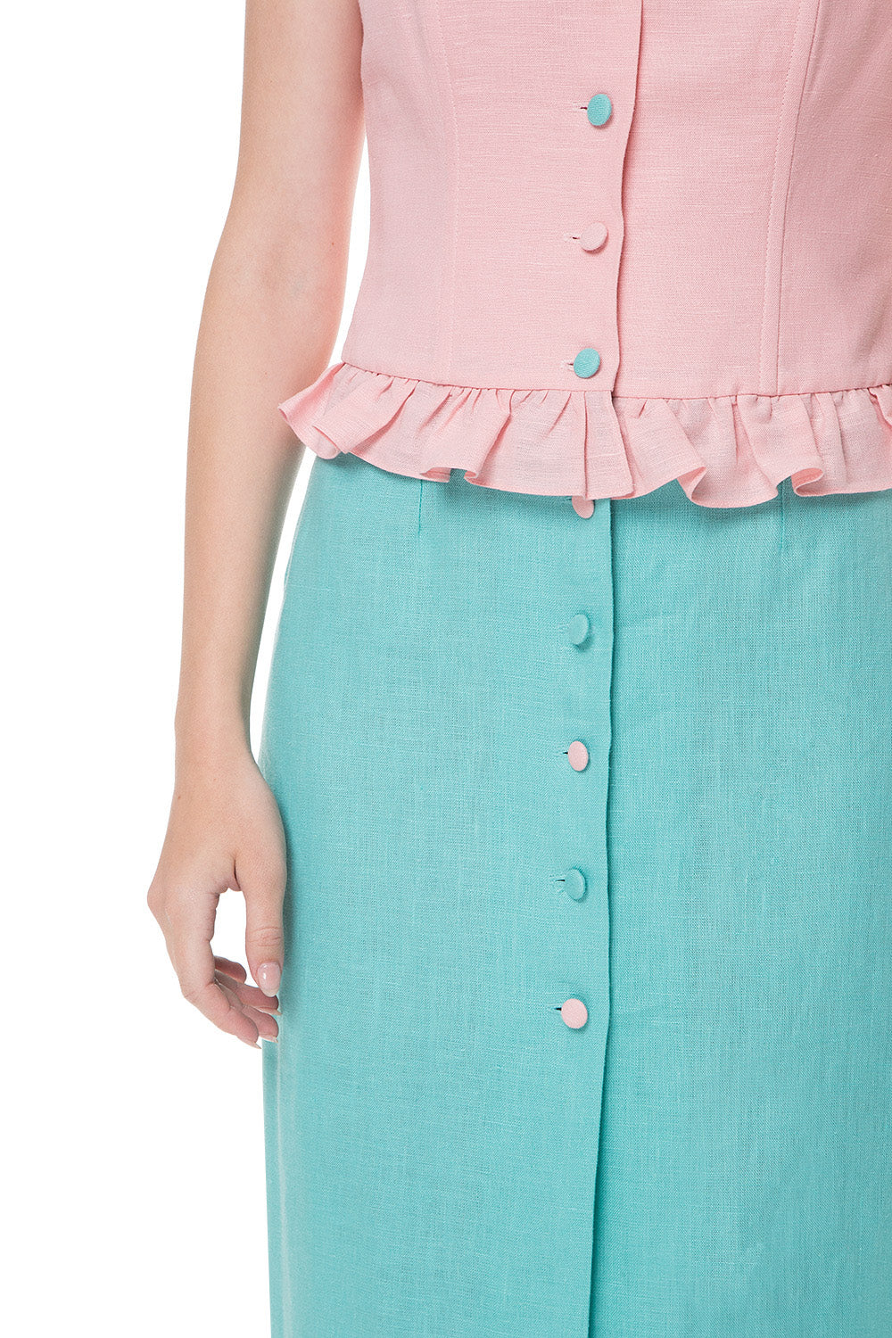 Mint Candy No Sleeves dress