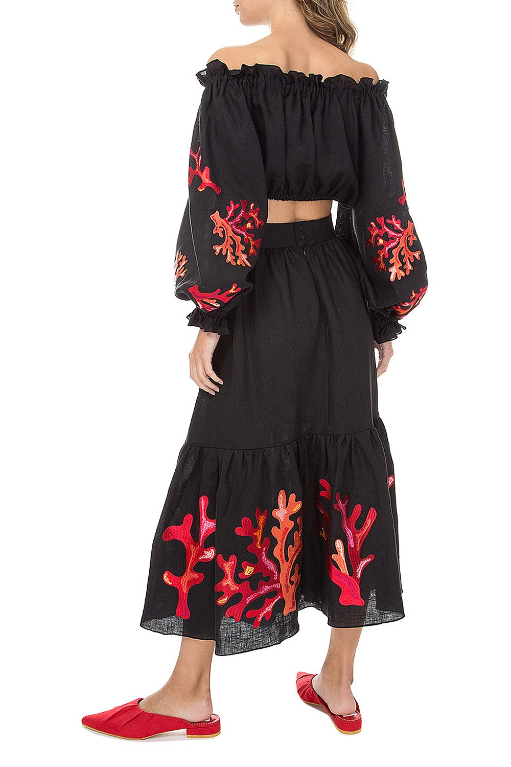 Bora Bora Black Midi Suit