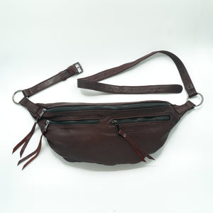 The Everywhere Bag #15 — Burgundy Leather with Gunmetal Hardware
