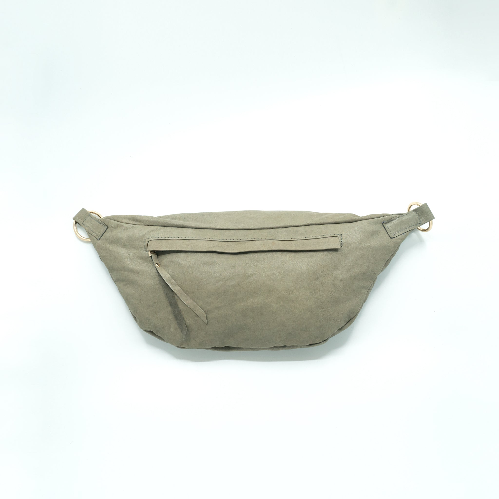 The Everywhere Bag #20 — Light Sage Green Leather with Gold Hardware
