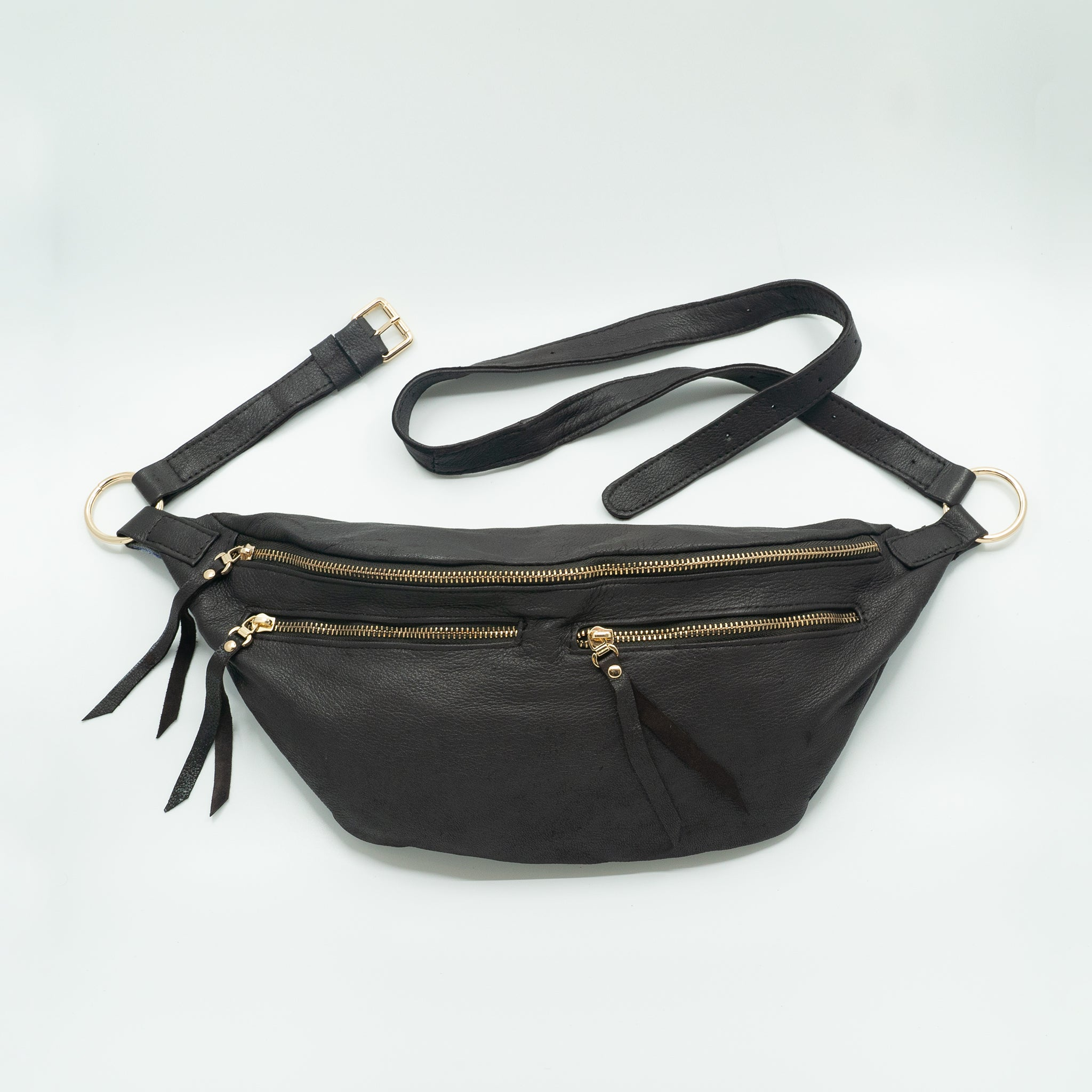 The Everywhere Bag #24 — Grainy Dark Brown Leather with Gold Hardware