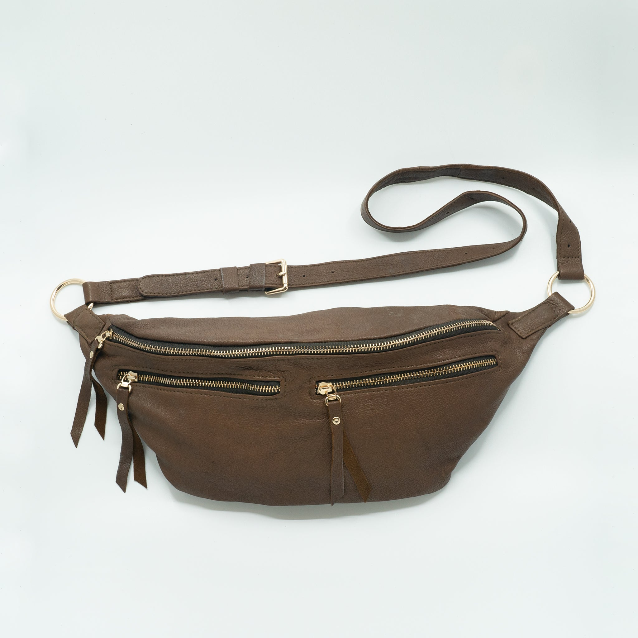The Everywhere Bag #27 — Deep Cinnamon Leather with Gold Hardware