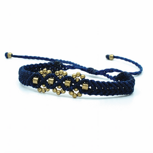 The Chaar Bracelet with Short Barrel Bead