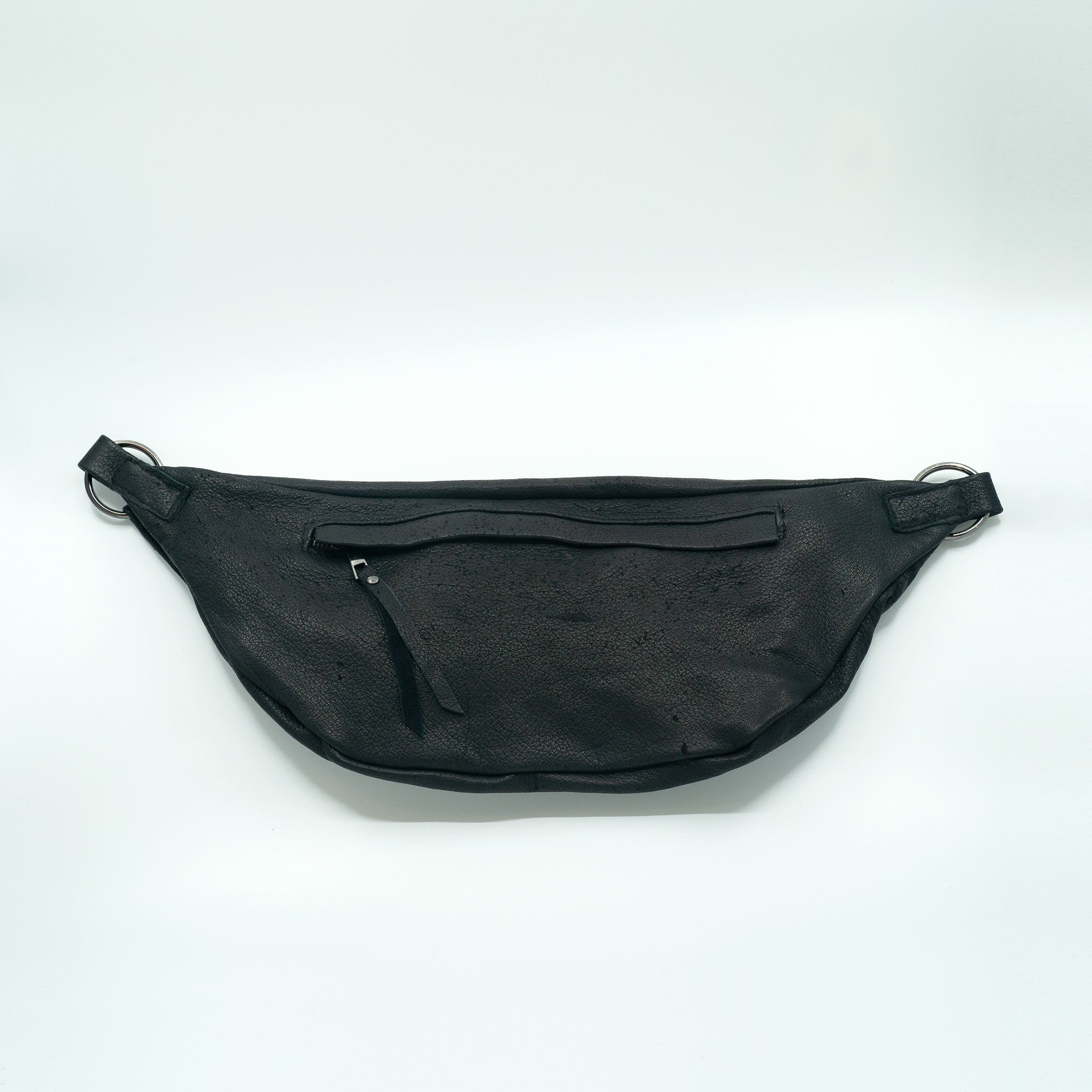 The Everywhere Bag #2 — Ultrasoft, Distressed Black Leather with Gunmetal Hardware