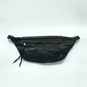 The Everywhere Bag #3 — Tough Black Leather with Gunmetal Hardware